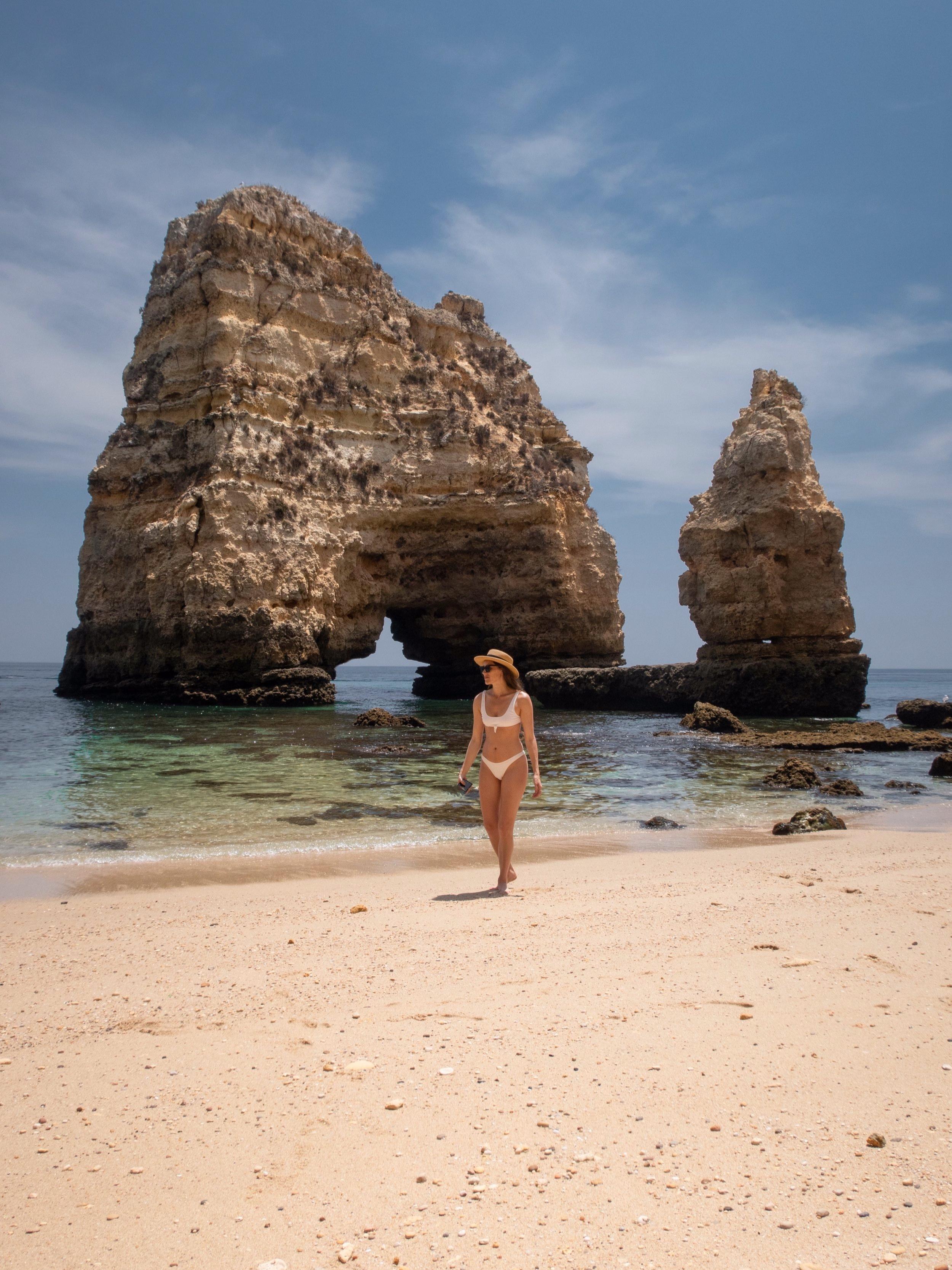 a secluded beach near Praia da Balança, portugal