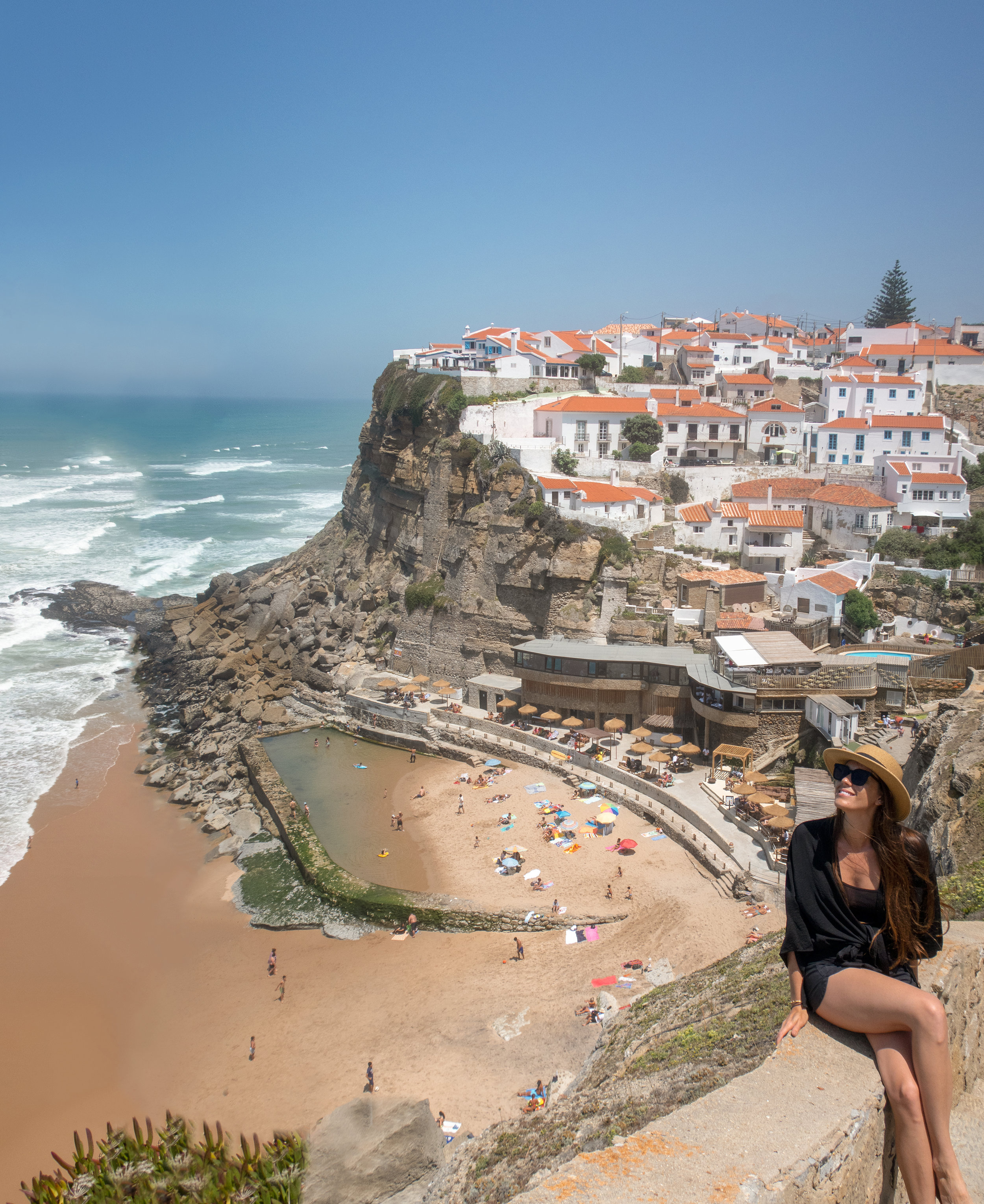 the view of azenhas do Mar in Sintra, Portugal