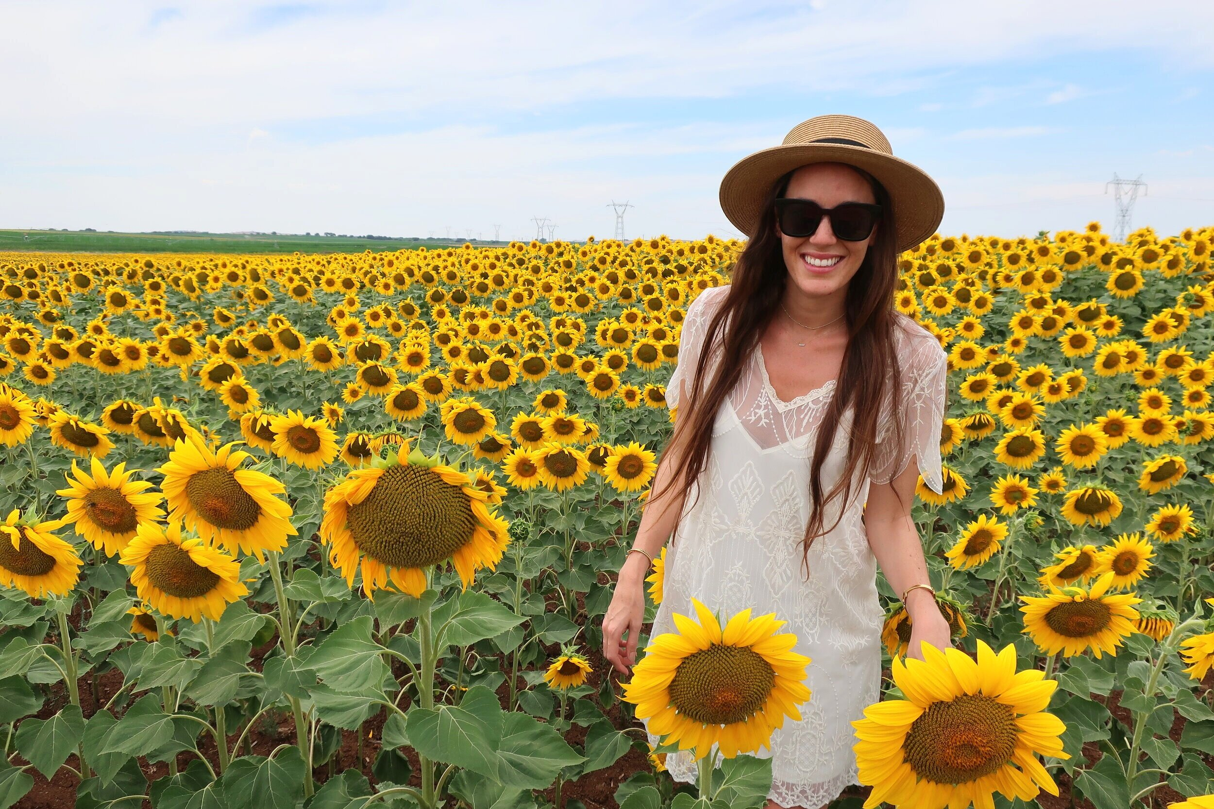 Carina Otero in Beja's Blooming Sunflower Fields