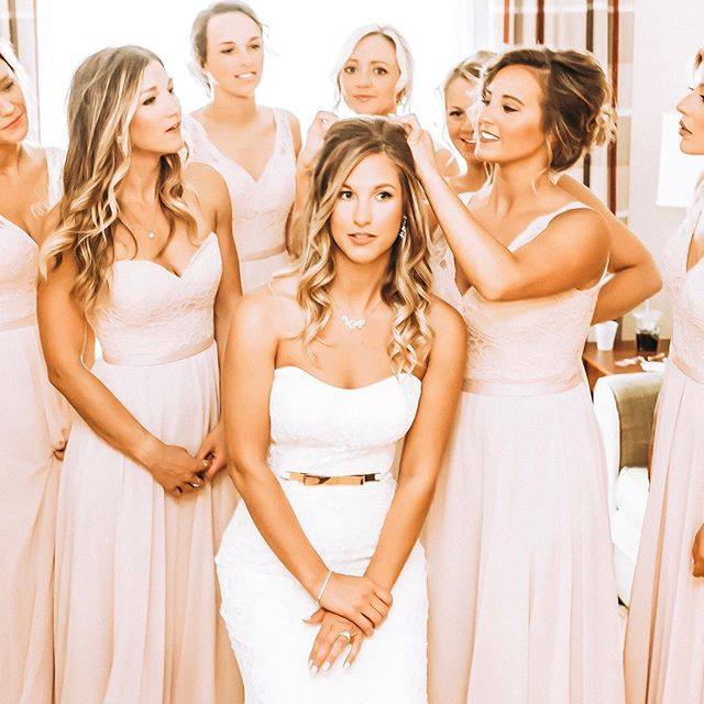 | when your girls got yo back |  #bride #bridesmaids #wedding #love #gorgeous #i#photography #photographer #canon