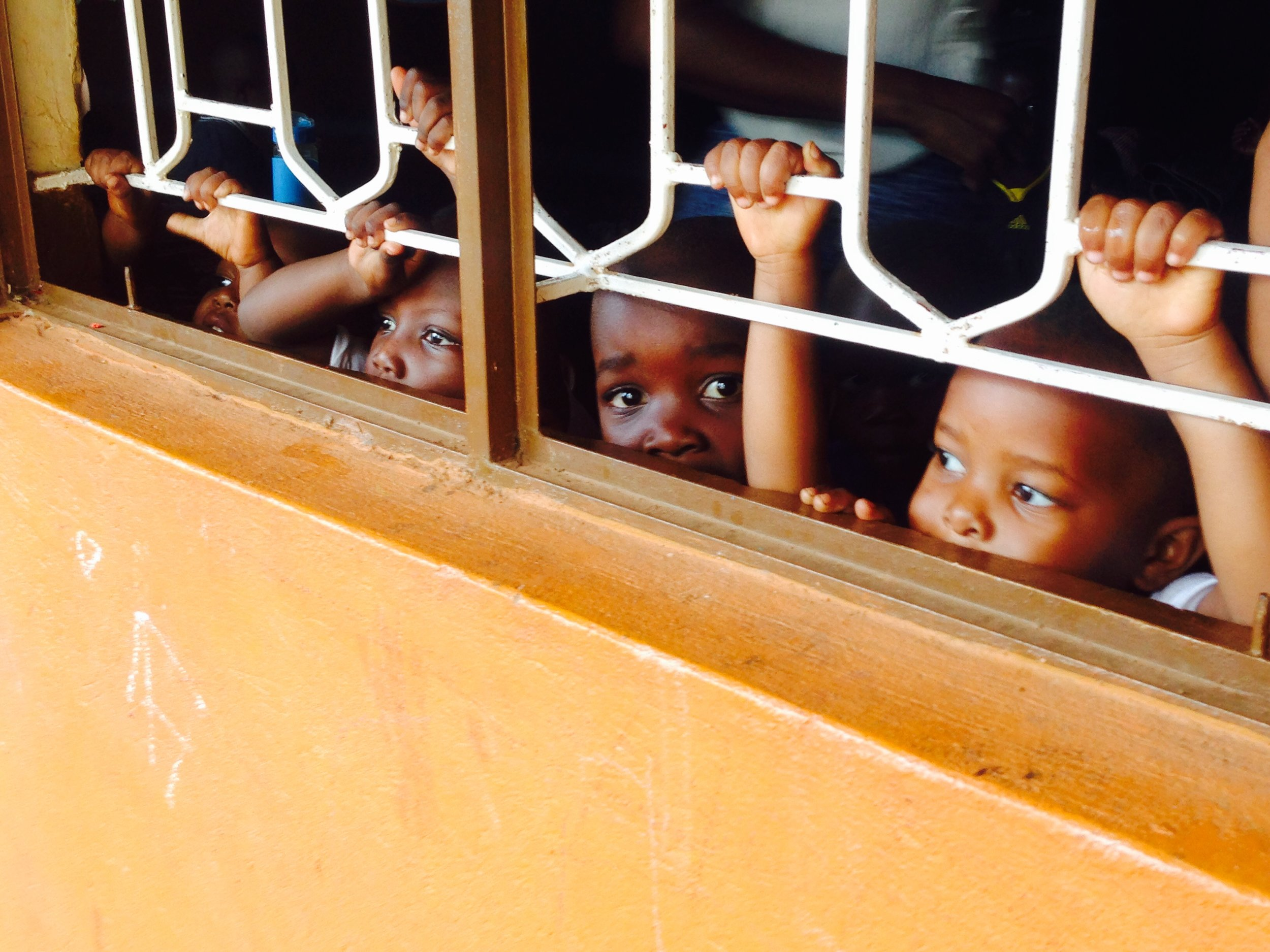 Baby class checking out the visitors at Greater Love School in Jinja (photo credit: Claire   Hodgkins)