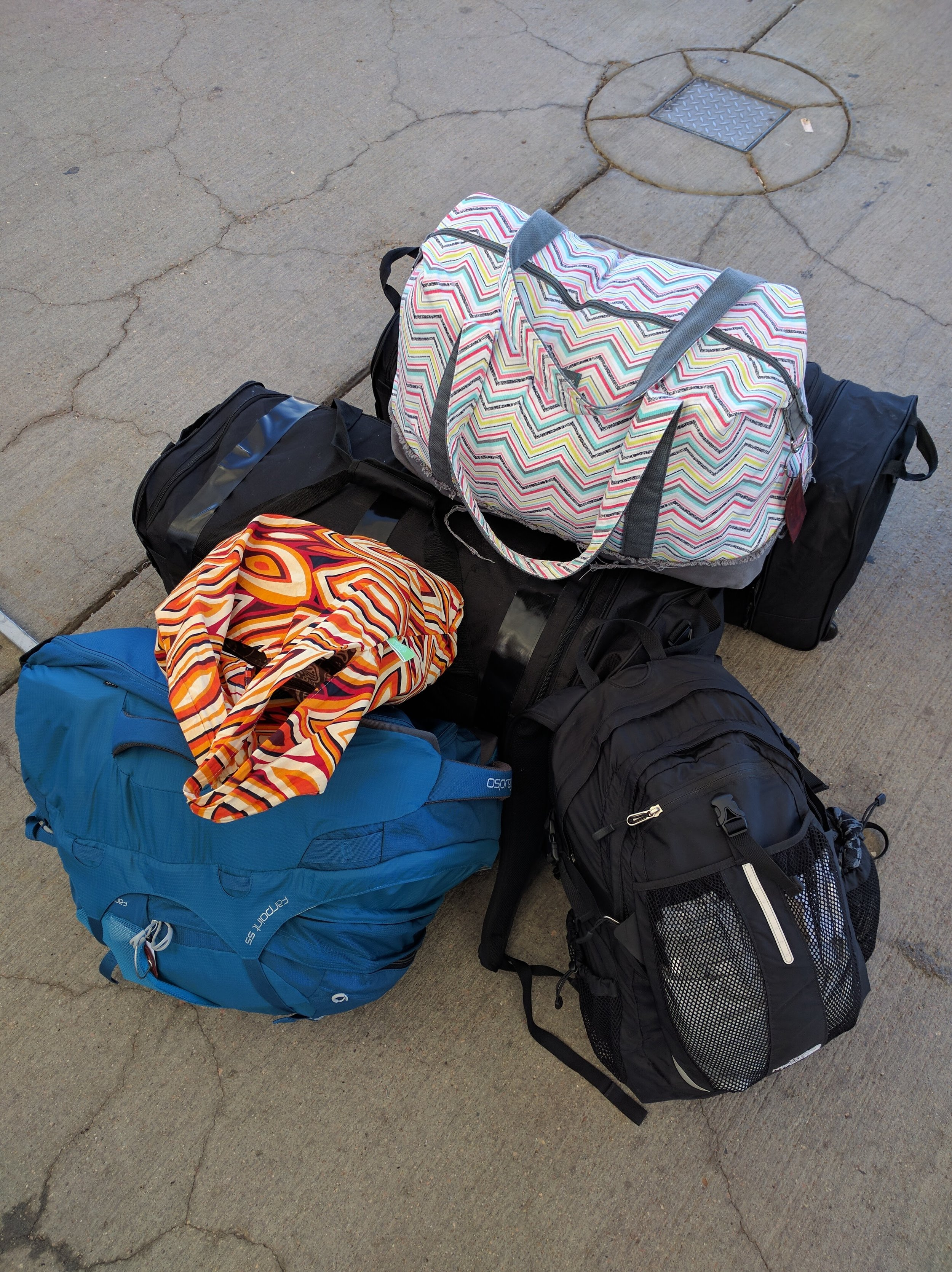 Bags are packed! More than half are filled with school supplies!