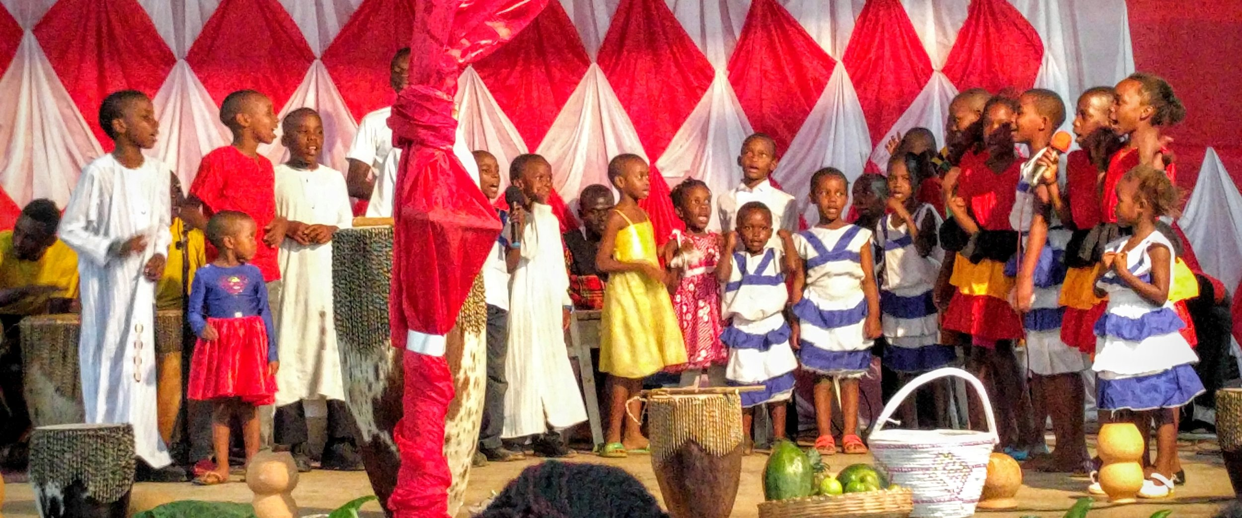 Kids performing the story of Adam and Eve