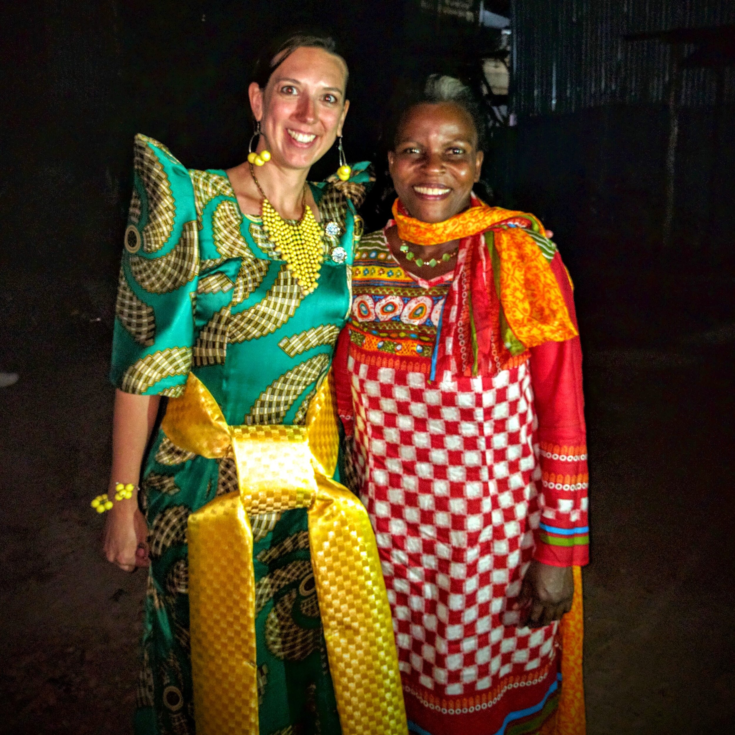 """Jessica (Jeff's aunt & Margaret's """"mom"""") and I at the end of the cultural event"""