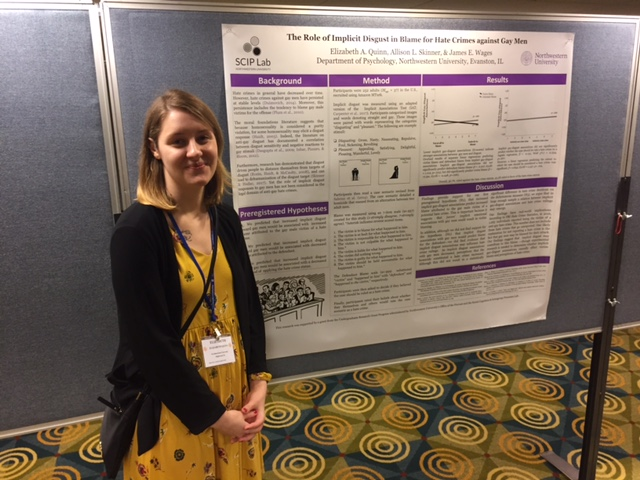 Liz Quinn presenting her research at SPSP 2018.