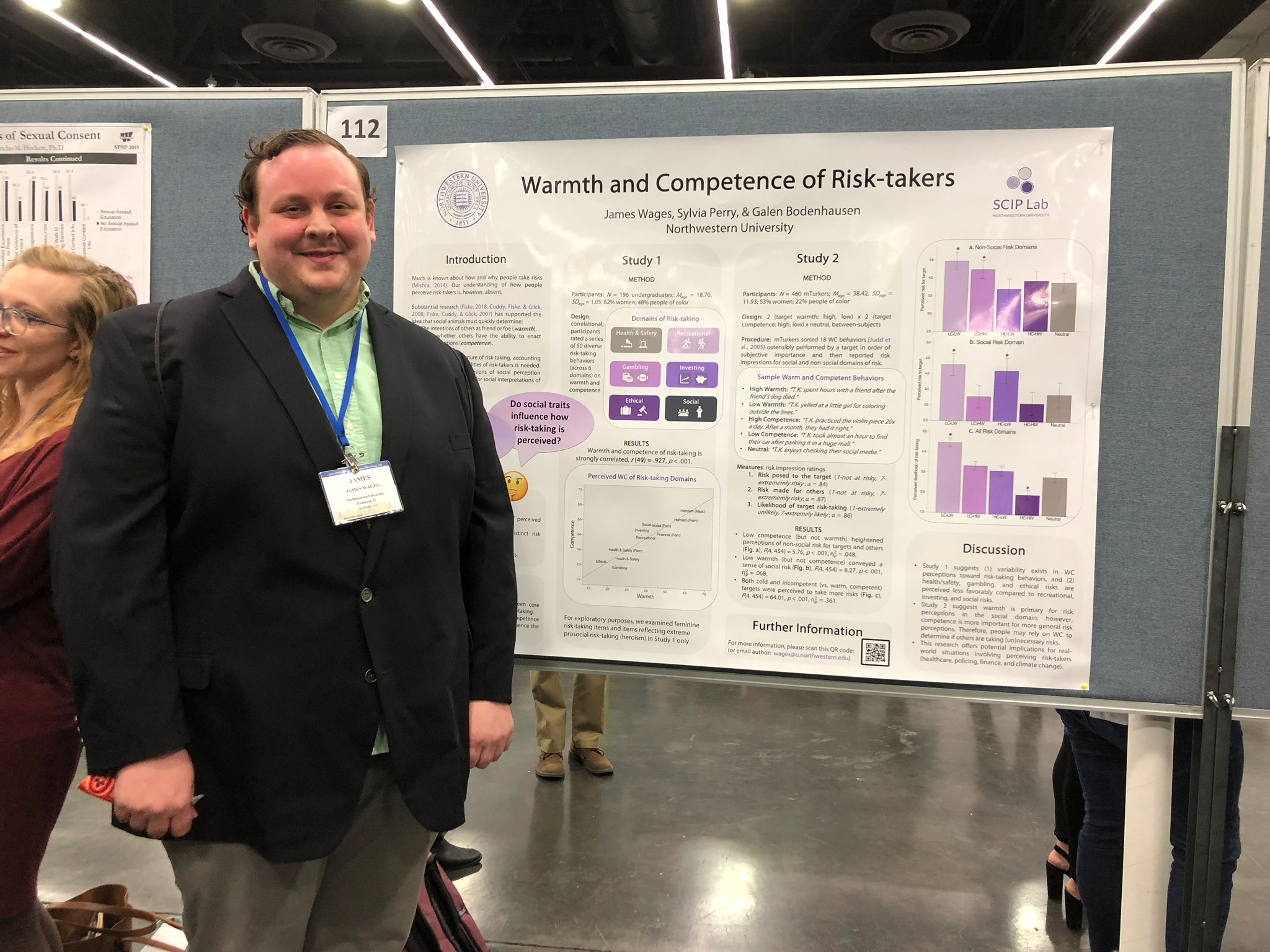 James Wages presenting a poster at SPSP 2019