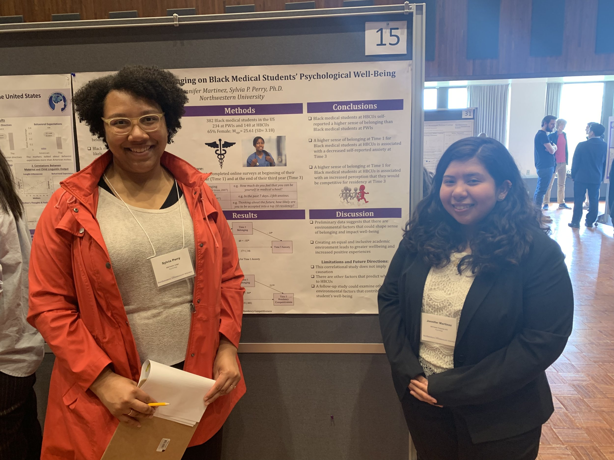 Jenny Martinez presenting her research at the 2019 Undergraduate Research and Arts Expo