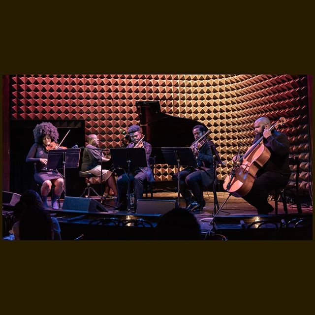 Throw back to last year #juneteenth show @joespub performance with the amazing @cantankerous.afro ♥️♥️ If you were there, you remember how amazing it was. If you missed it, no worries! You can catch us there again next week, Wednesday June 19th.  Tickets are $25, 6pm doors. Link for tickets in our bio!  #livemusic #livemusicnyc #melanated #melanatedqueen #melanatedking #melanatedbeauty #juneteenthcelebration #piano #pianocovers #pianoquintet #blackhistory #blackstringplayers #joespub #freedom #sterlingstringsnyc #sterlingstrings #stringquartetcovers #stringquartet