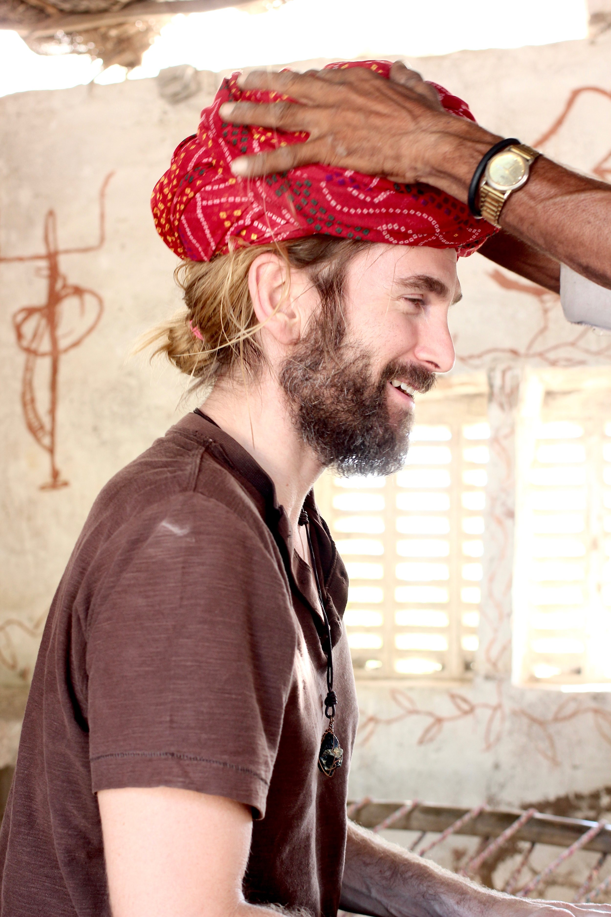 Wylie received a turban, my personal highlight (looks like it's his too).
