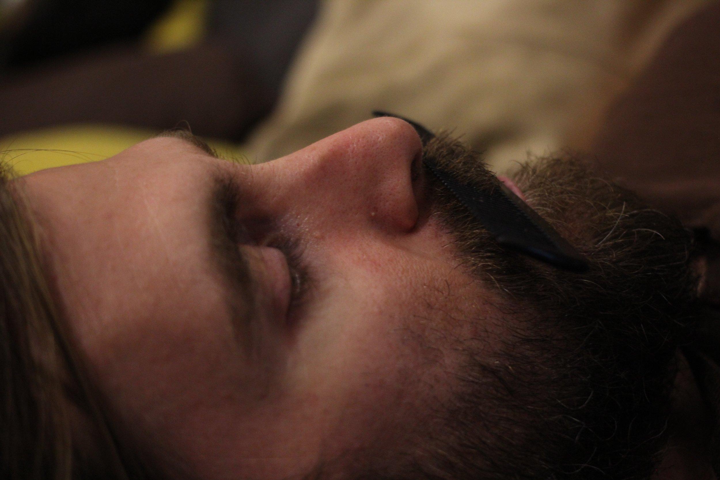 Gangster beard (taken in Jaipur at our hostel)