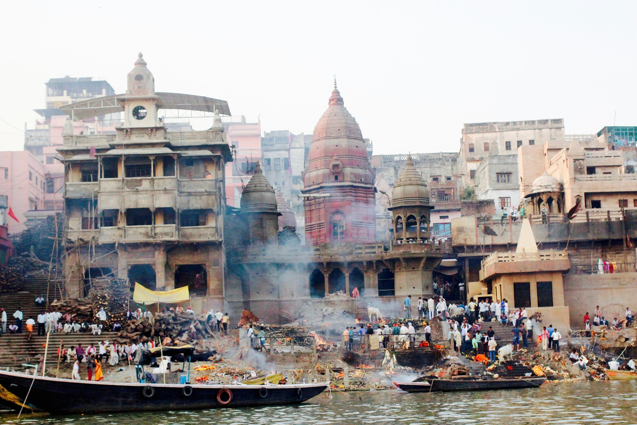 The biggest ghat in Varanasi burns 200-300 bodies a day.