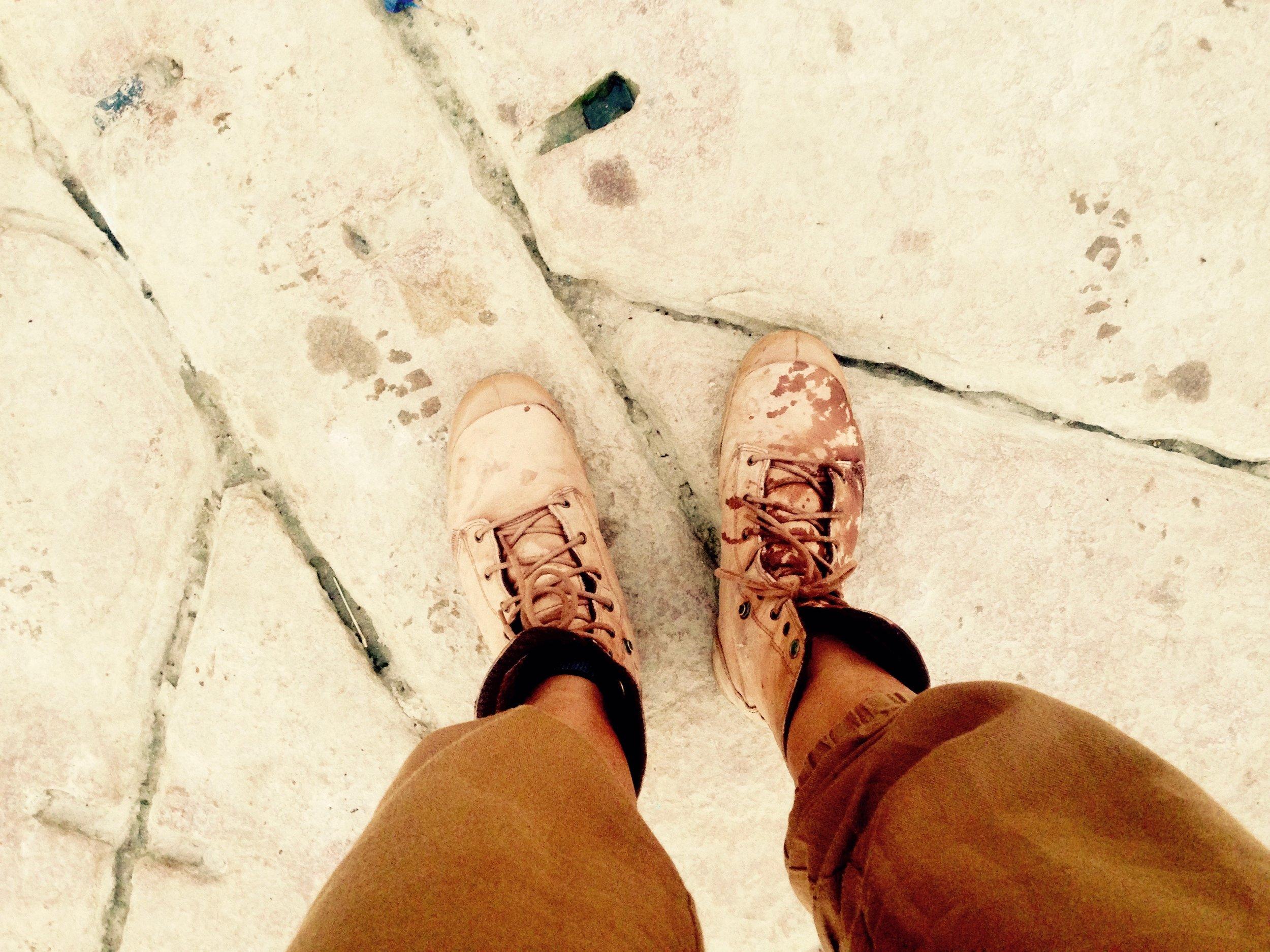 Got Ganges water on my shoe