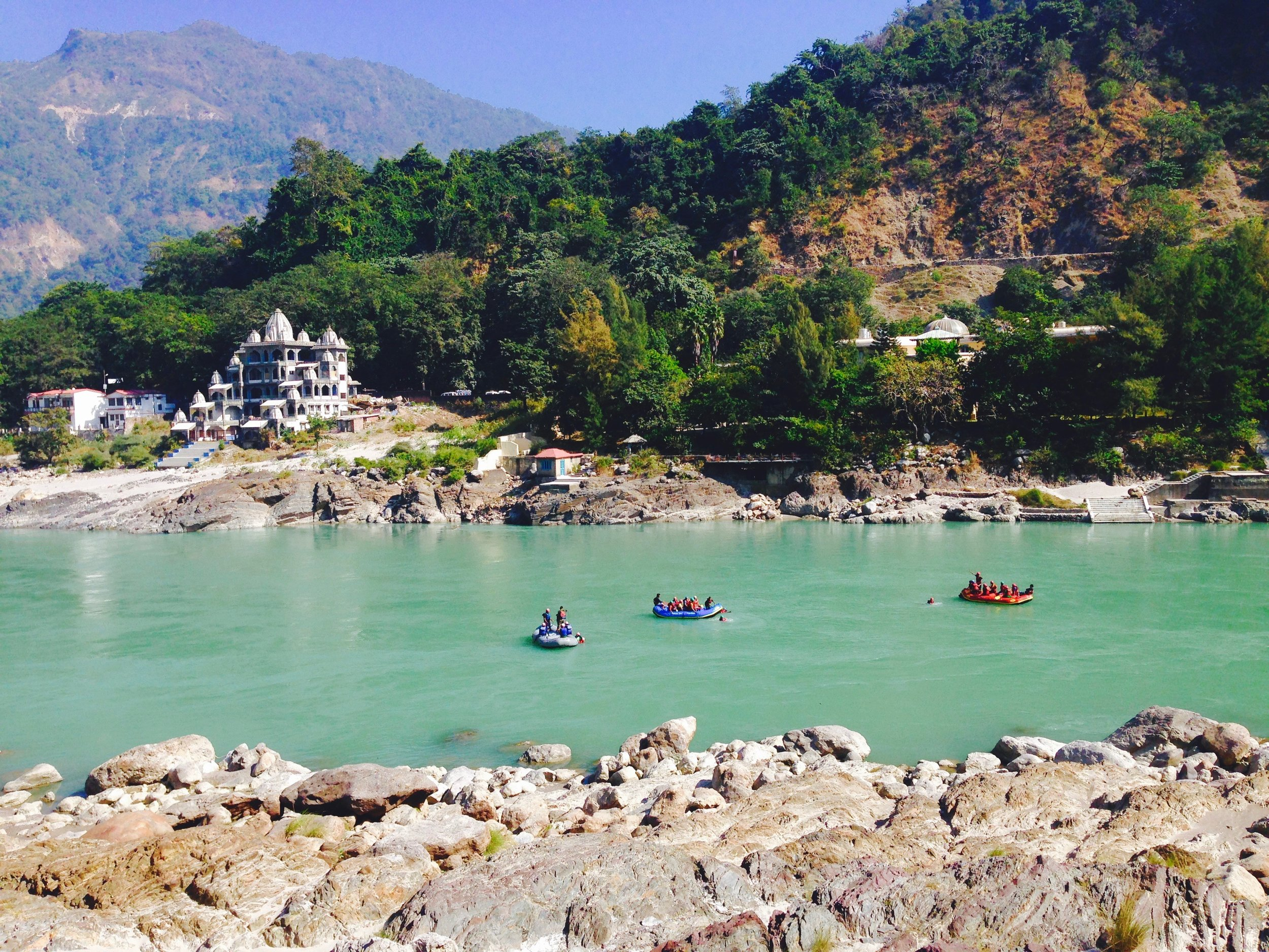 White water rafting on the Ganga is a thing in Rishikesh, along with bungee jumping, fly foxing  (zip lining superman style from one mountain to another), and pendulum swinging