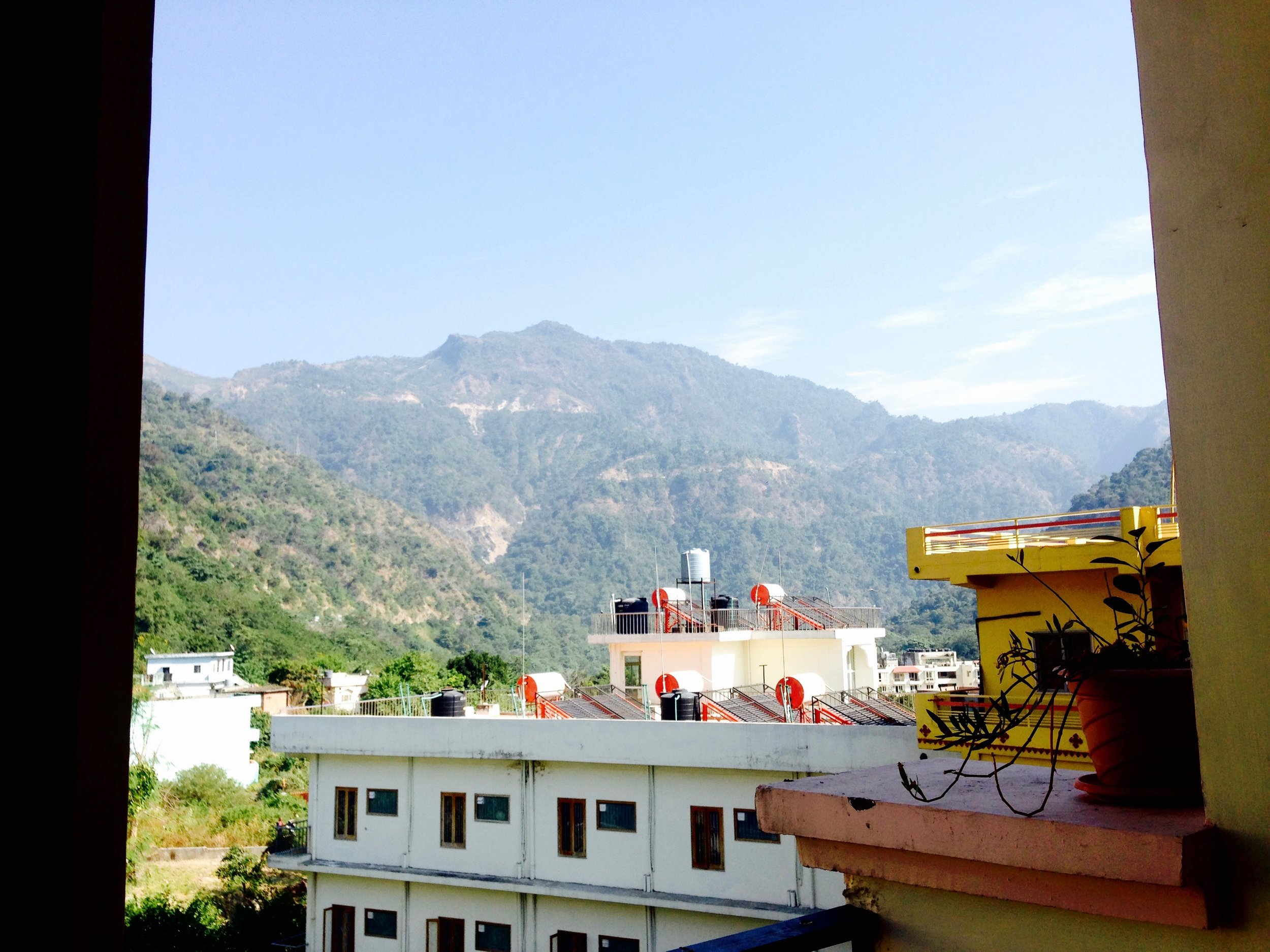 Balcony number two from the bedroom overlooking the Himalayas, no big deal.