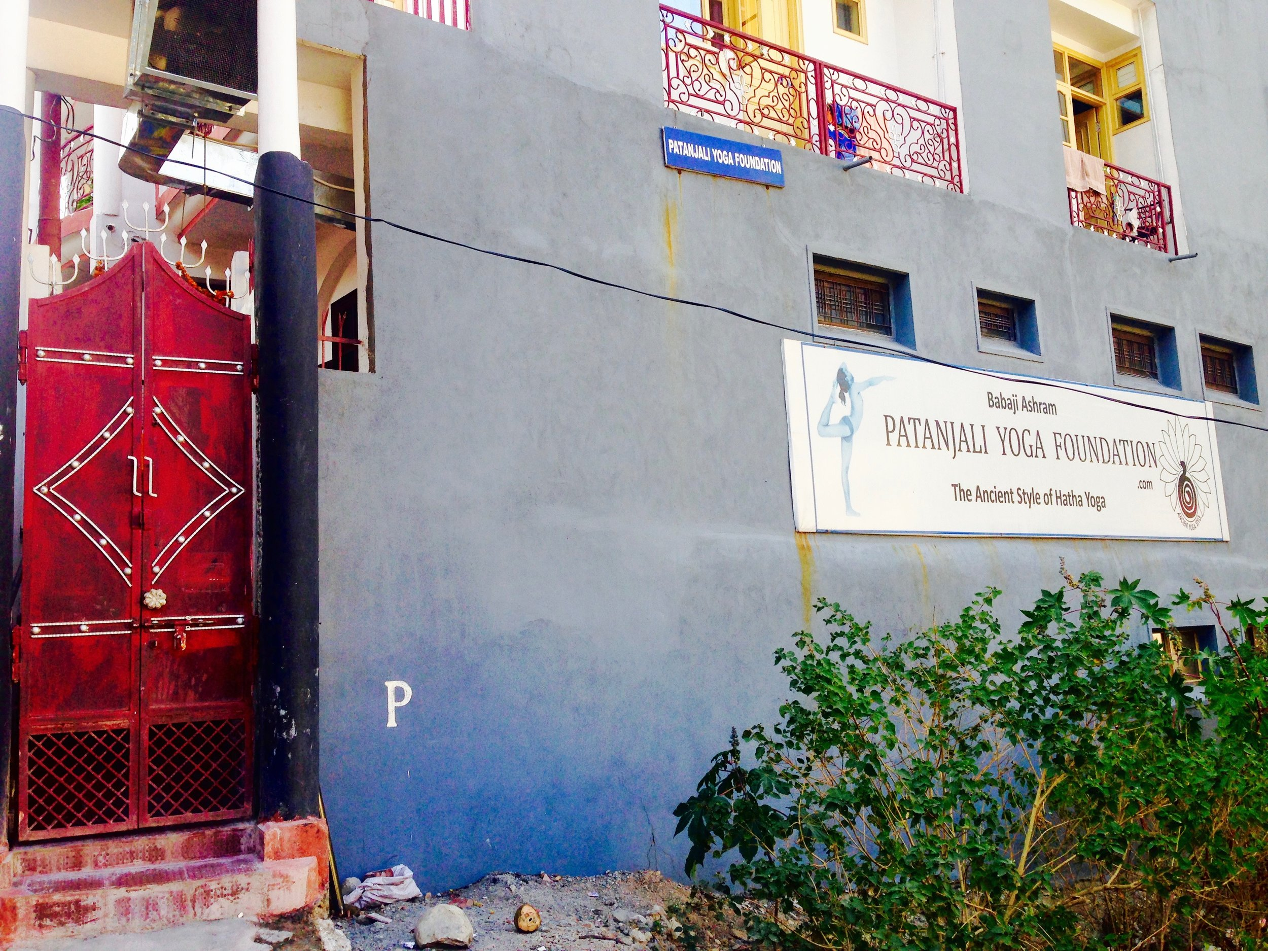 Close to our apartment are many yoga schools scattered about