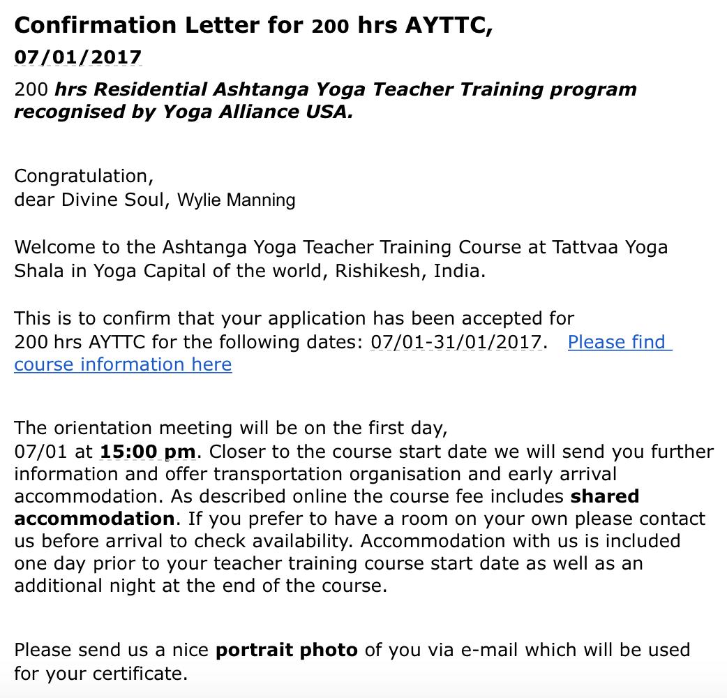 Yoga teacher training 2017, it's happening!