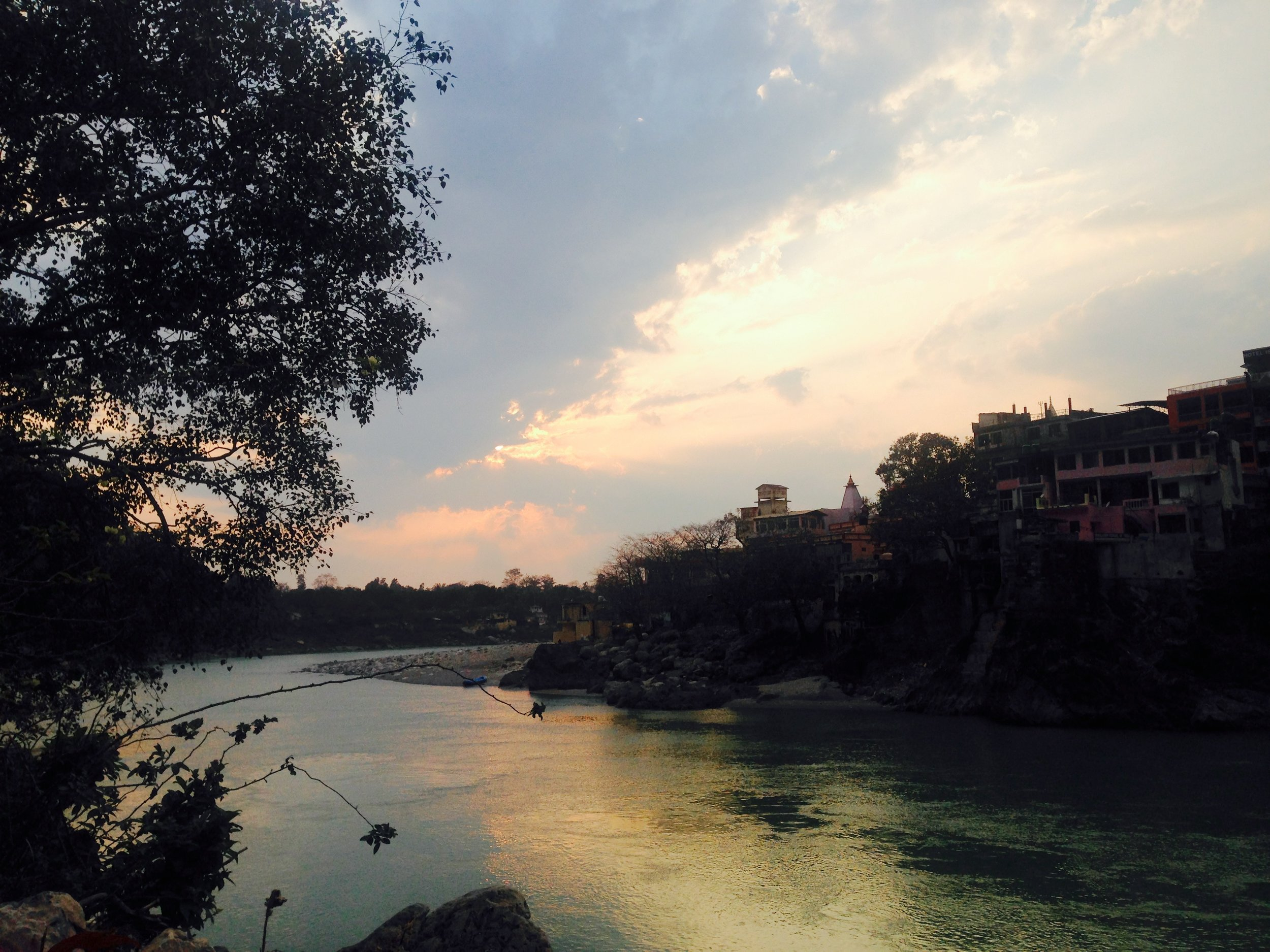 Last view of the Ganga sunset