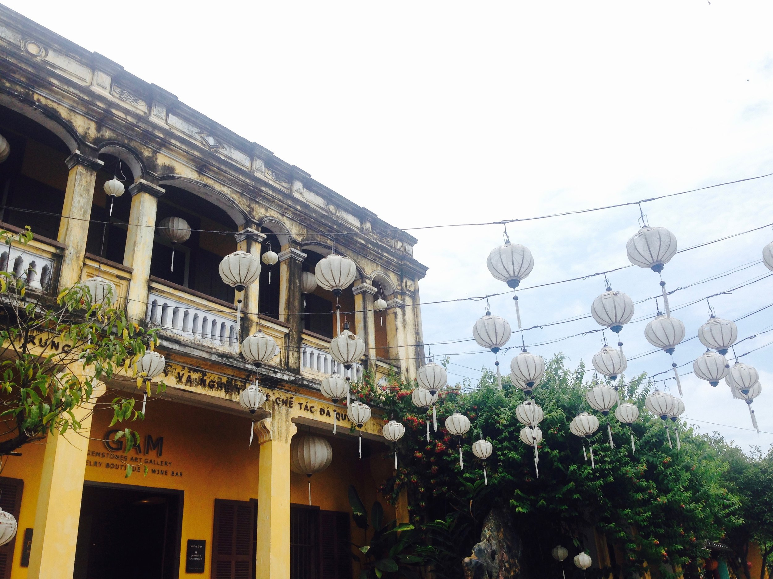 Hoi An was honored the UNESCO World Heritage Site status in 1999. Beautiful yellow washed city of lanterns and architecture influenced by French/Japanese/Chinese blends reveal a bygone era of an old port city.