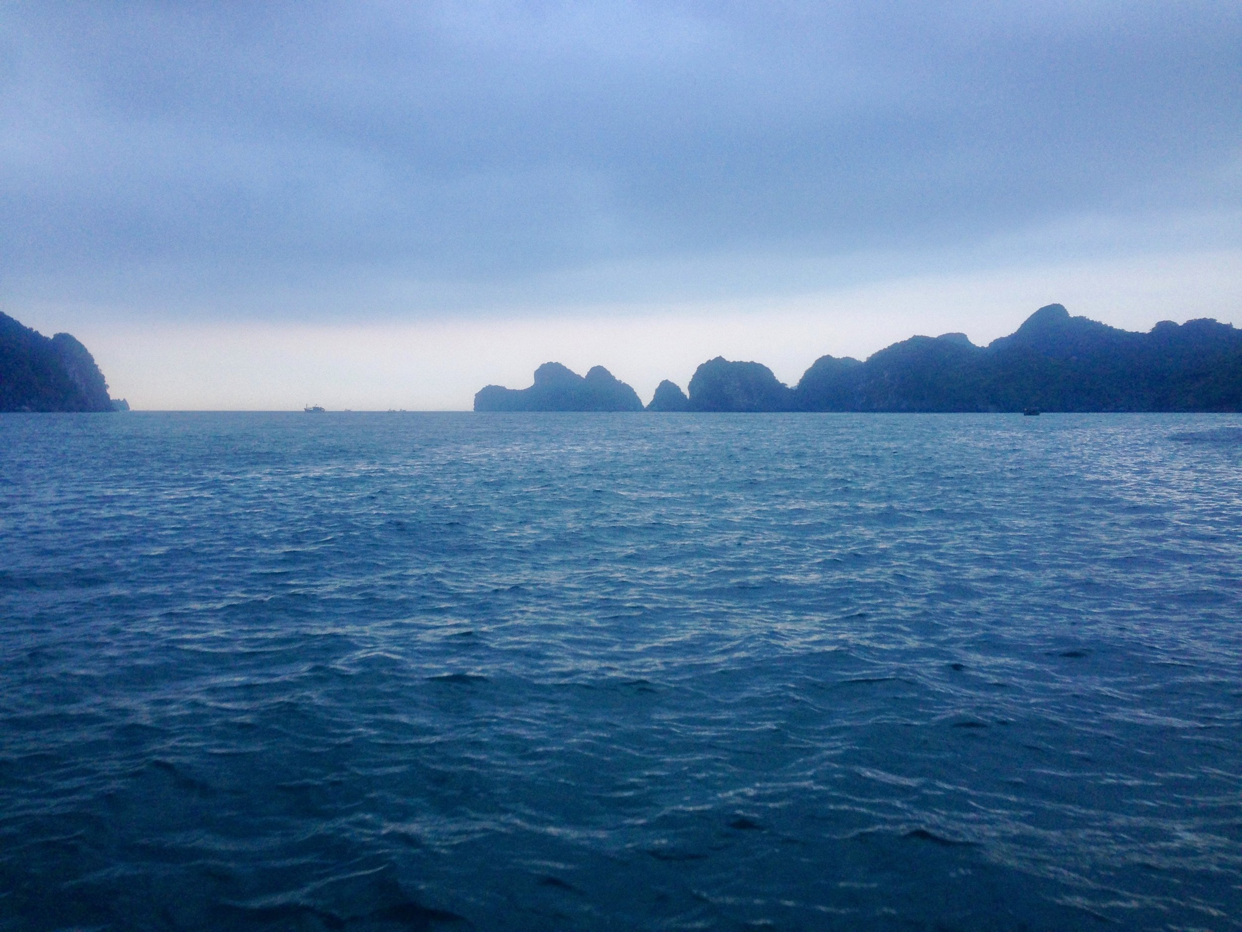 Sunset view from the boat after a full day of rock climbing (more on that next week)