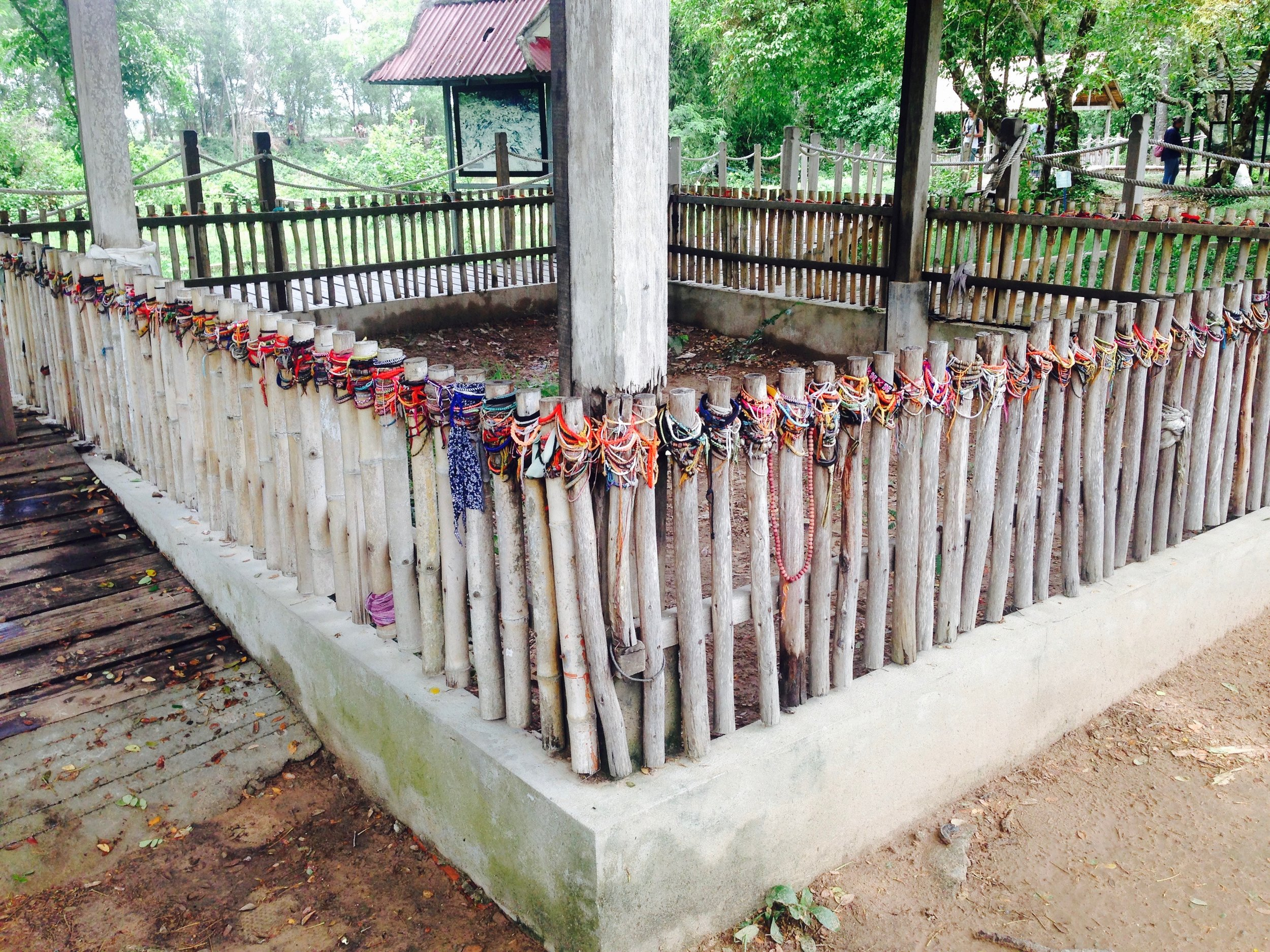 Former mass grave which I believe used to hold bodies of decapitated defectors of the Khmer Rouge