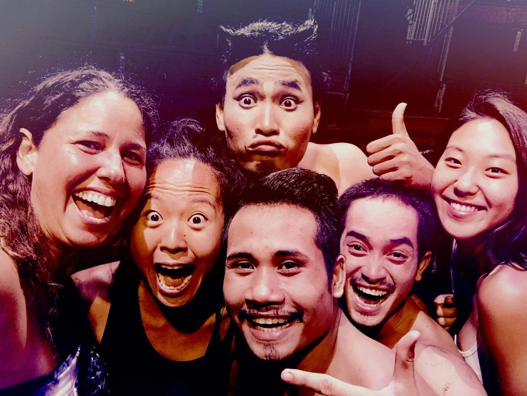 Mandatory group selfie with the performers of Phare Circus. I was a little too excited :)