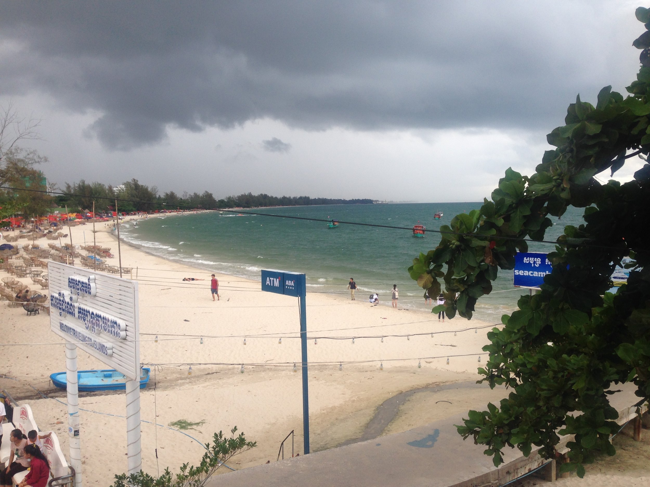 Calm before the storm in Sihanoukville - maybe an omen to get out as soon as possible?
