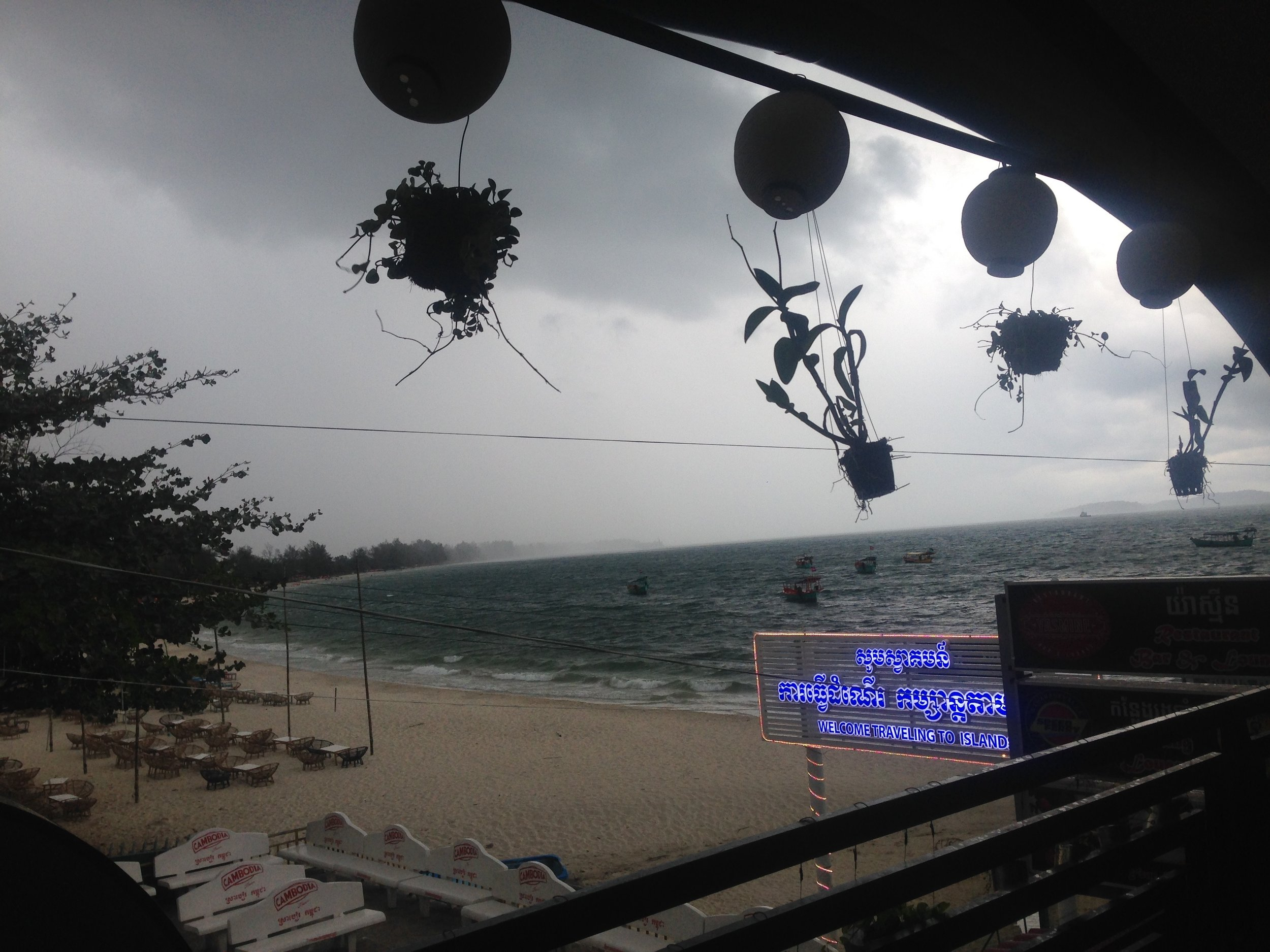 Storm in full force - I was pretty much stuck in this cafe for two meals