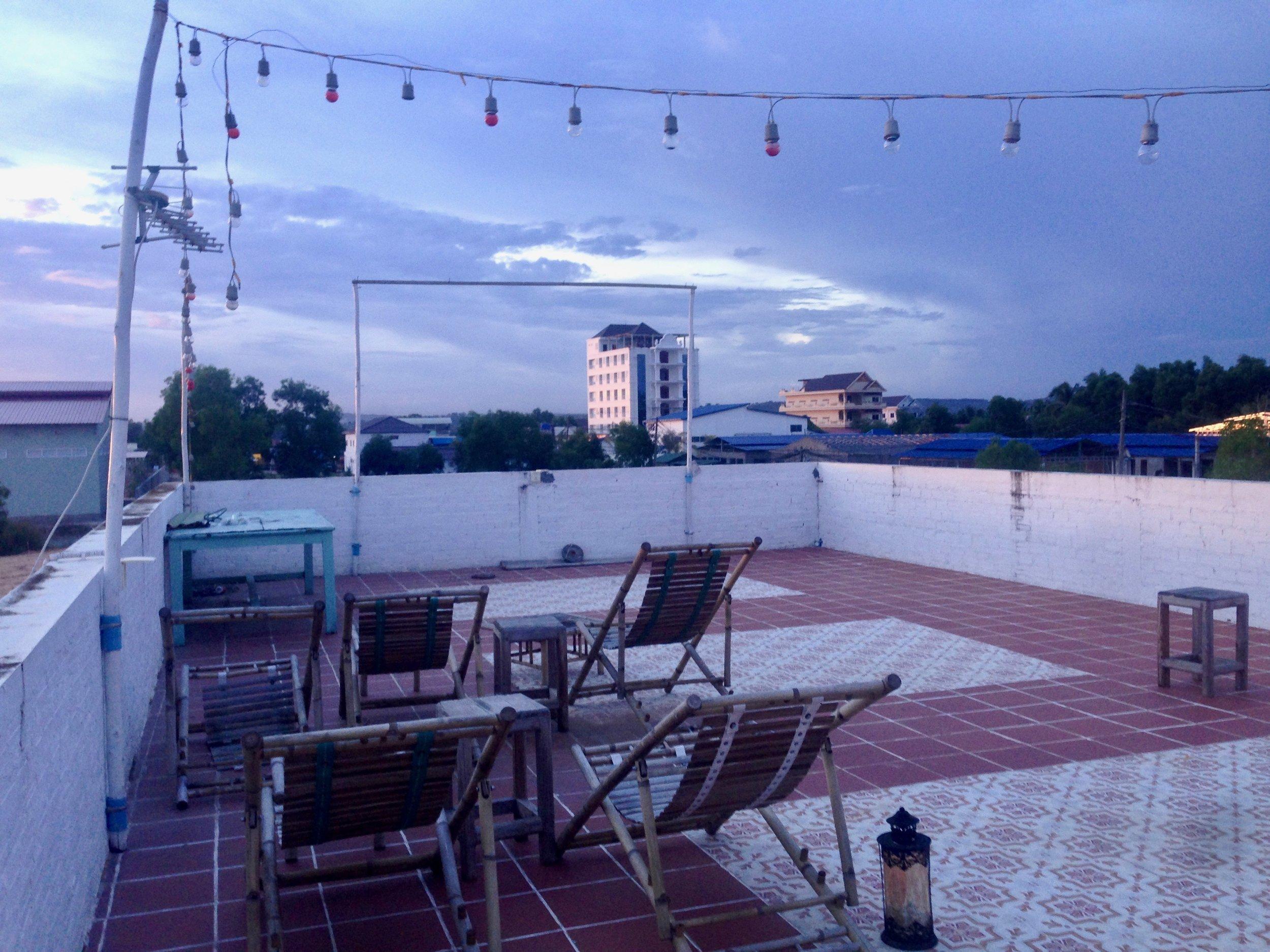 Sunset rooftop vibes before the movie marathon starts