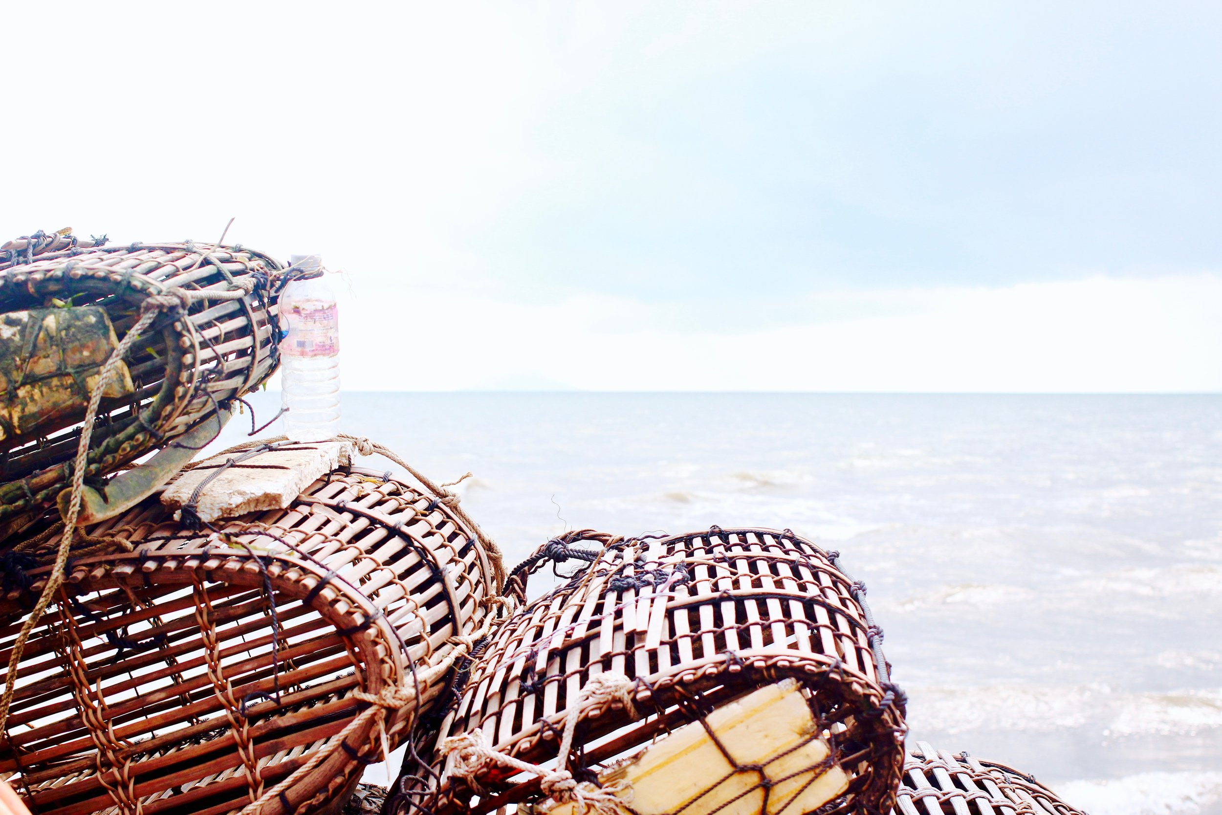 Baskets that collect all the sea creatures