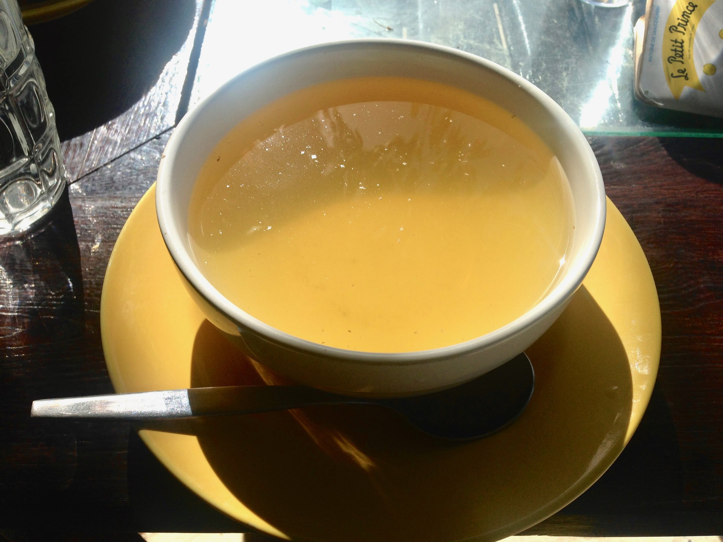 Spa broth soup was included in the detox package