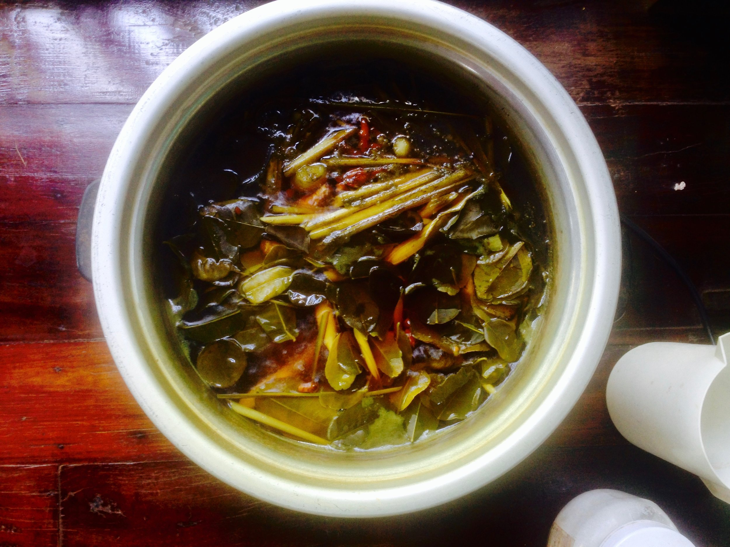 The spa staff brewed up daily lemongrass herbal aromatic steam, which I breathed in daily on my way to the detox counter