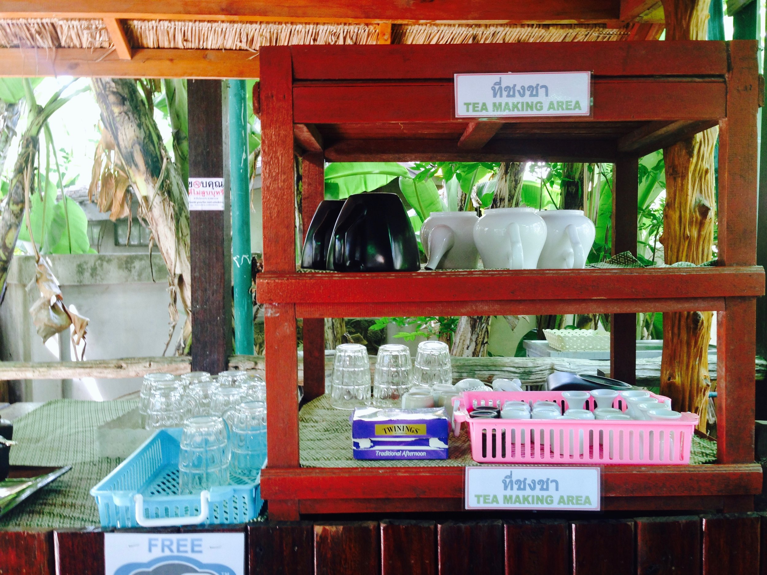 When your tastebuds need some flavor, you can always count on the herbal tea making area