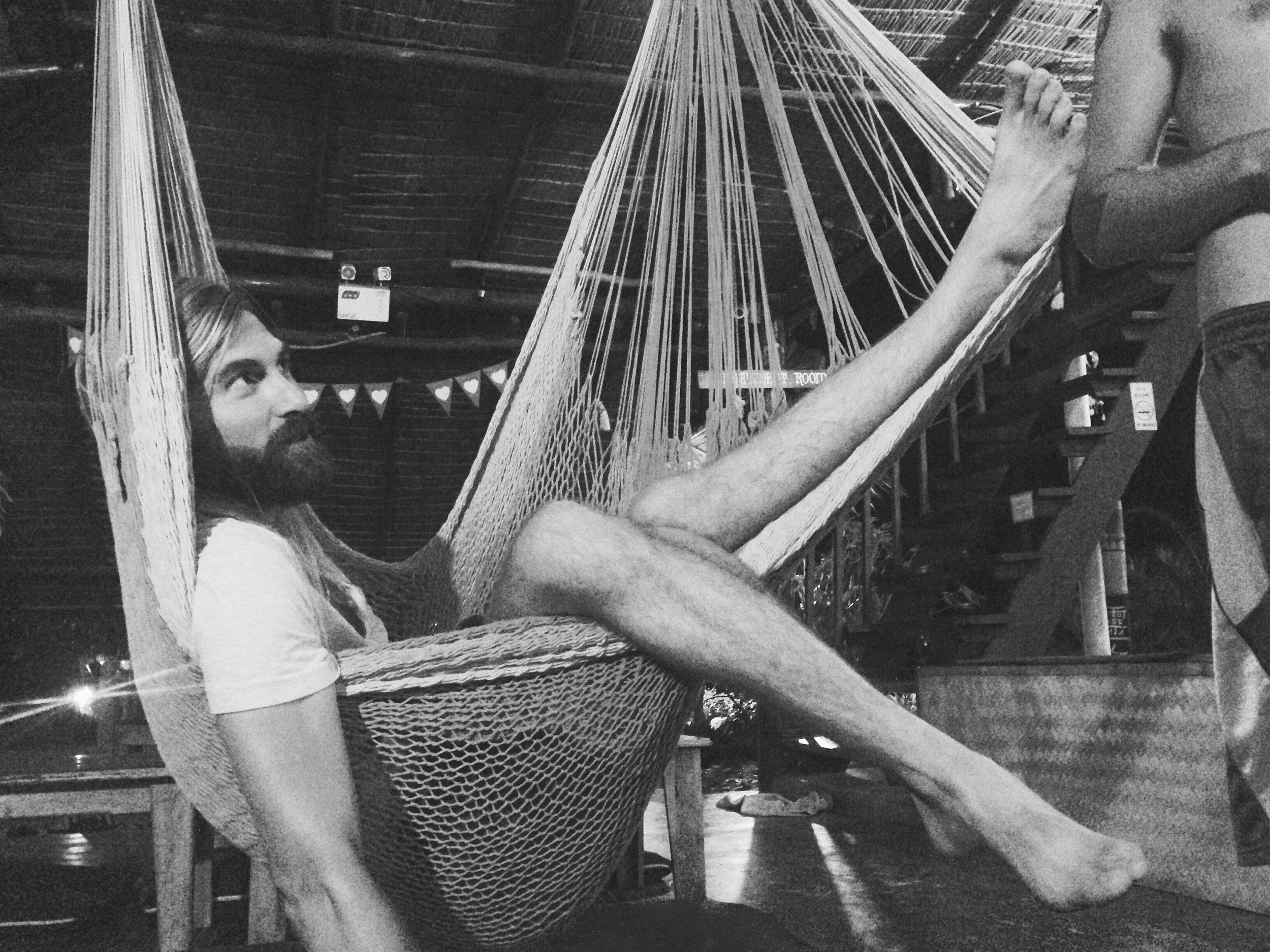 Rocking the hammock always