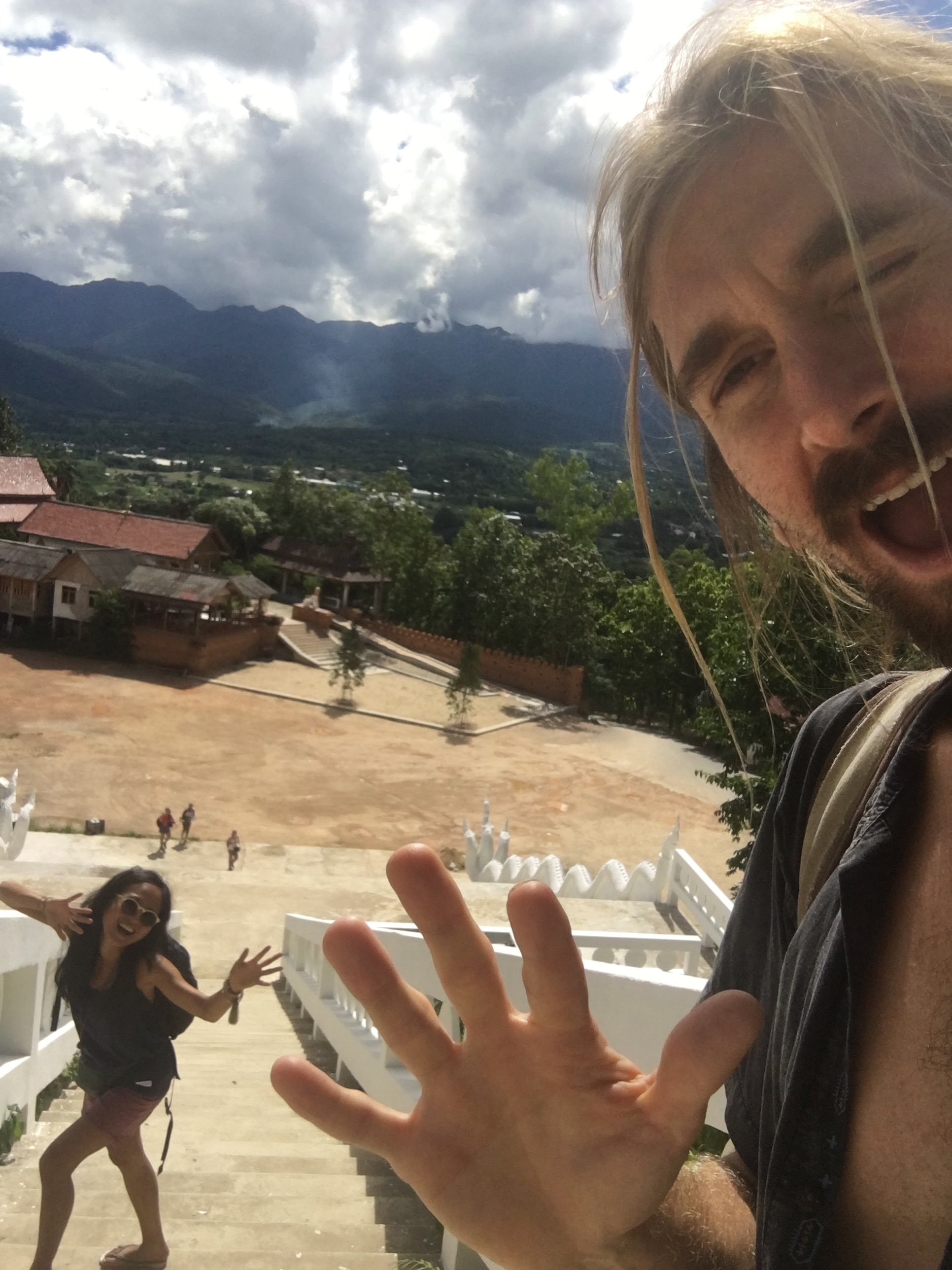 Hiking up to the White Buddha