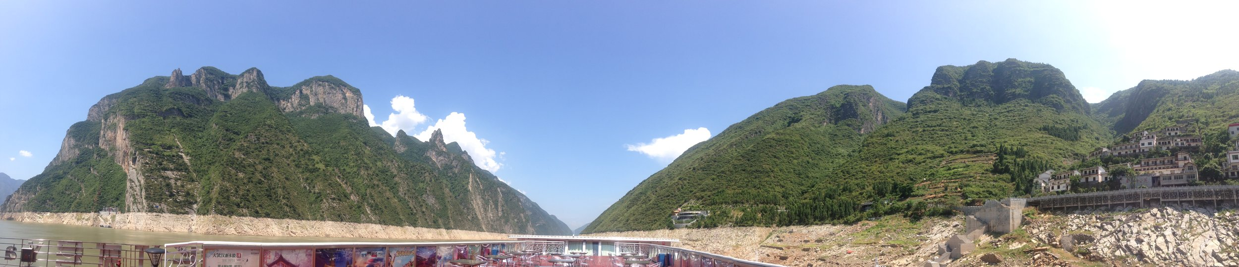 Cruising on the Yangtze River while passing Gorge two out of three