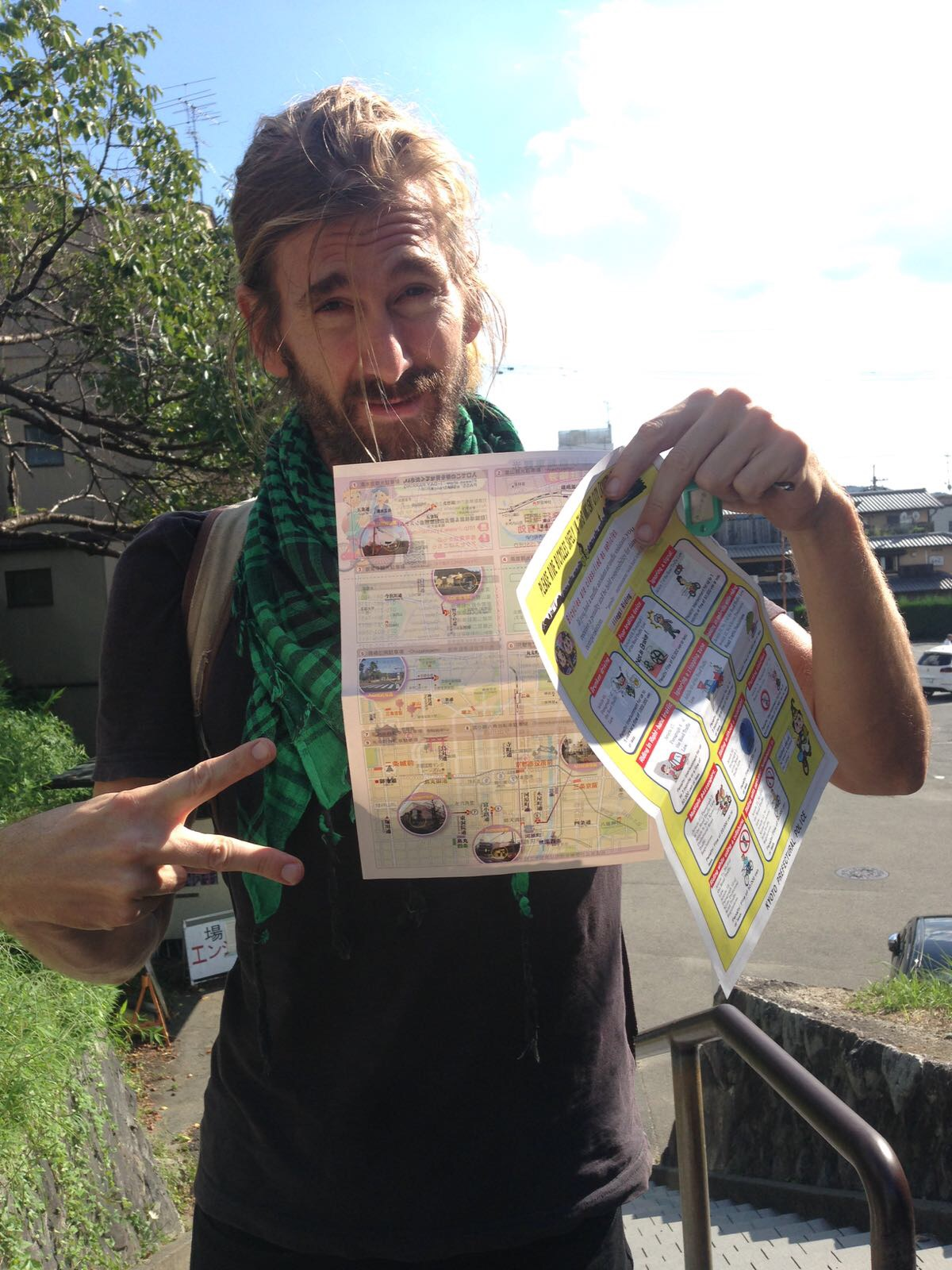 What you see in Wylie's hands? No big deal, simply a two sided double paged bike parking receipt which outlines ALL the bike laws that you best not break, citing the corresponding section AND article of law (otherwise: fat fines and quite possibly, prison?). WTF!