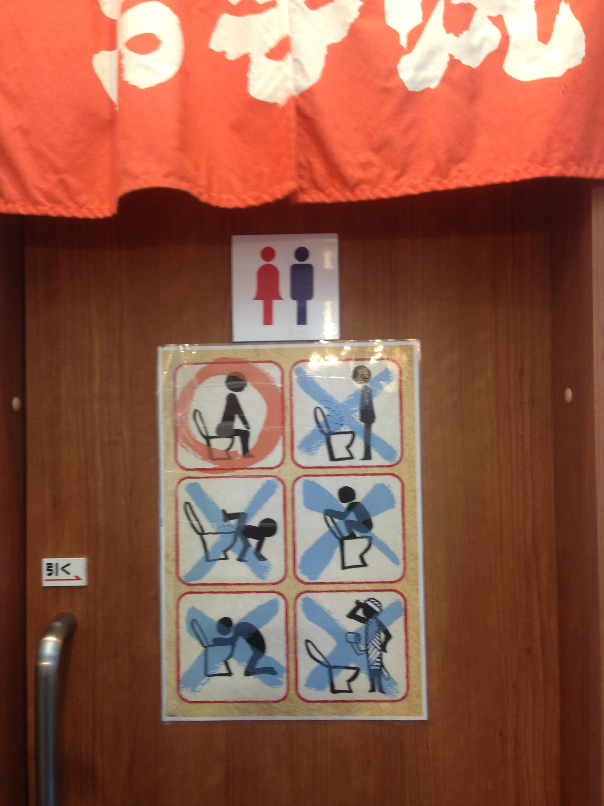 In case you were confused, the Japanese have made their bathroom rules VERY clear
