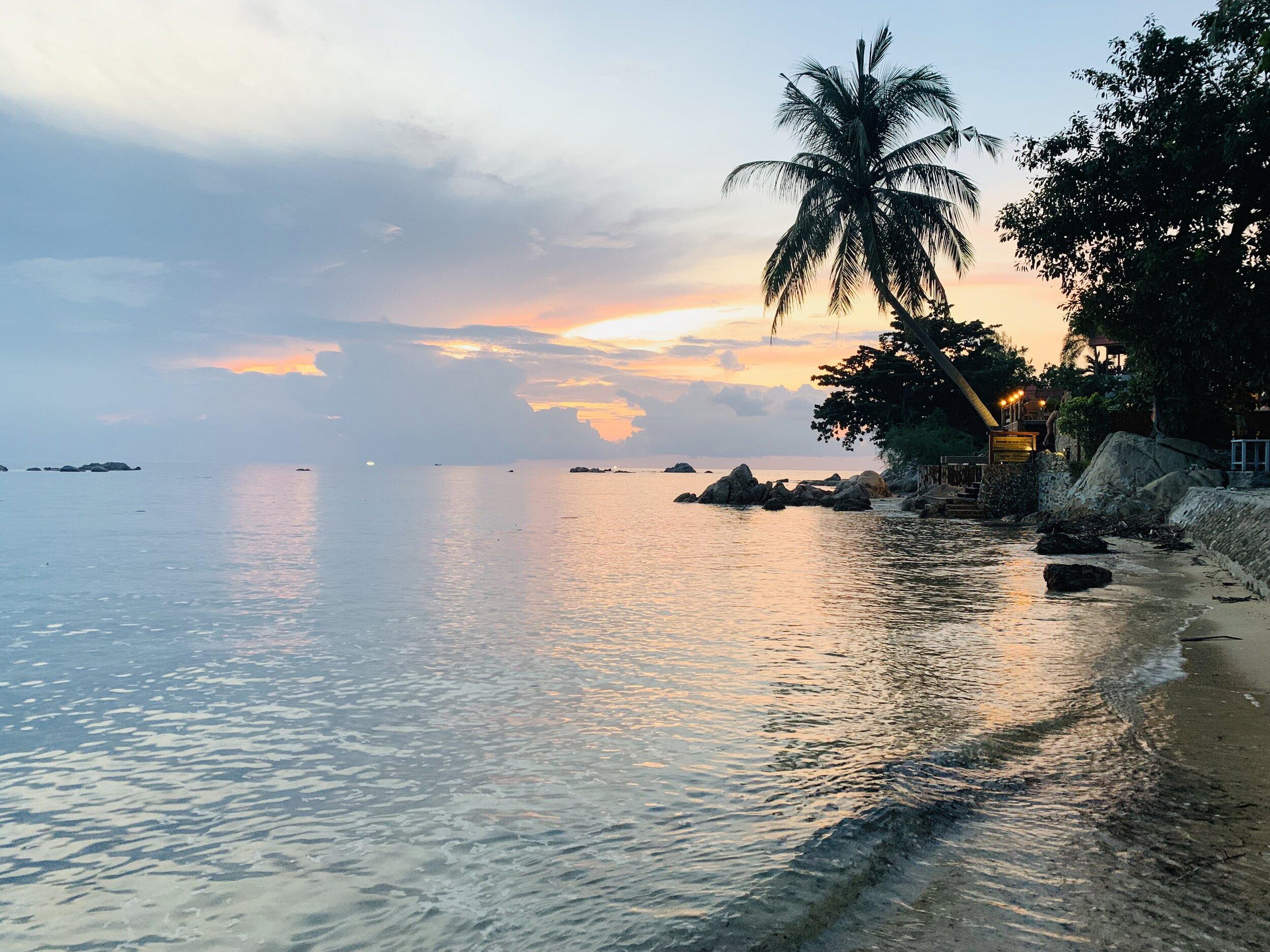 Samma Karuna at sunset
