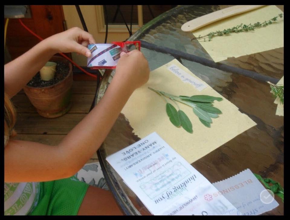 Art classes for children and adults range from art journaling to working with all types of natural elements creatively.