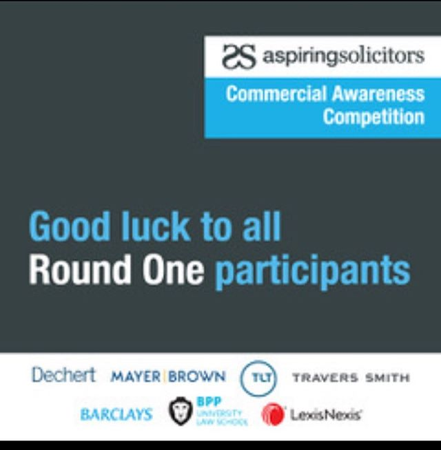 After an incredible response to the AS Commercial Awareness Competition, round 1 has begun! Best of luck to all participants. Have you completed it yet? Comment below and let us know.  #AspiringSolicitors #CAC2020 #CommercialAwareness #TrainingContract #VacationScheme