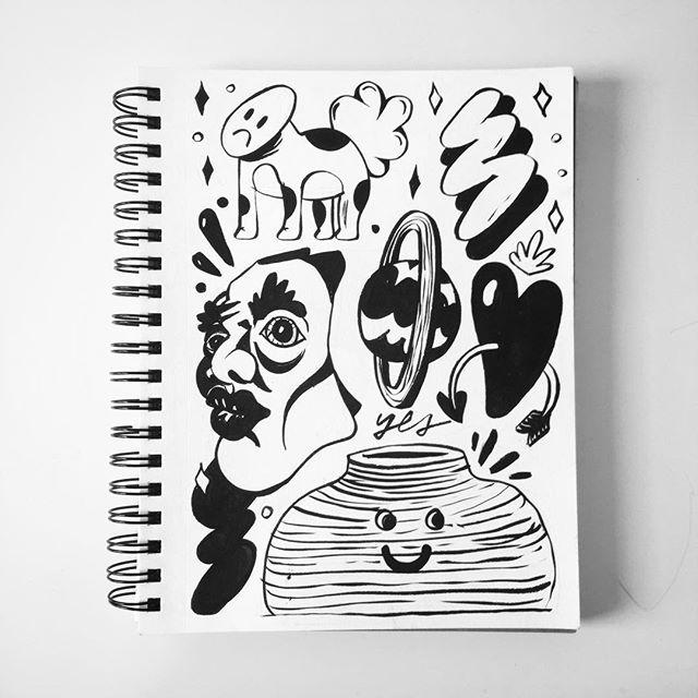 Sketchbook summer #3 . . . . . . . . . . . . . . . . . . . . . #ink #sketchbook #pentelbrushpen #comics #character #illustration #blackandwhite #drawing #artist #instaart #art