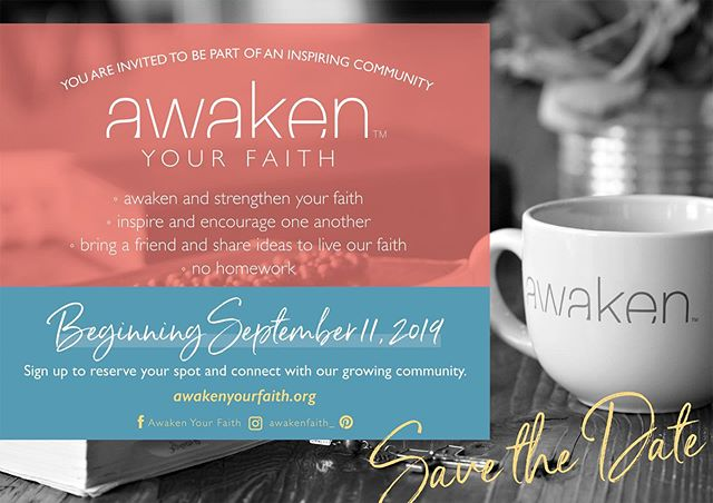 So excited to be bringing Awaken Your Faith to 2 parishes this Fall! Please follow us at @awakenfaith_ ! We have lots of exciting things coming soon! Tag a friend! 💙