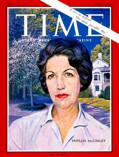 Phyllis McGinley on the cover of Time Magazine,June 18, 1965.
