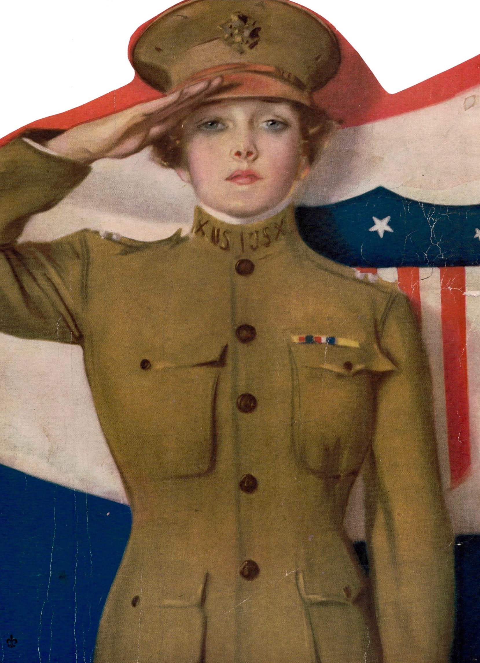 """Miss Liberty"" from Hearst's Magazine, November 1917"
