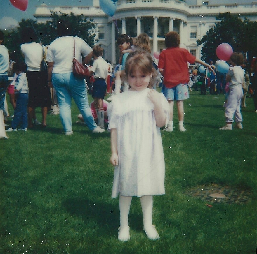 An Easter visit at the White House.