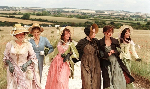 "Brenda Blethyn, Rosamund Pike, Carey Mulligan, Talulah Riley, Keira Knightly and Jena Malone in ""Pride and Prejudice"""