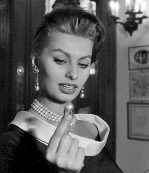 Sophia Loren at Cartier in Paris