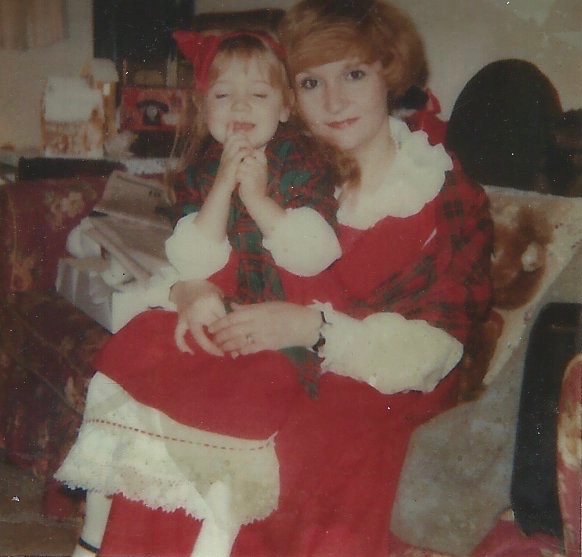 What would Christmas be without matching holiday outfits? Kate and I circa 1986