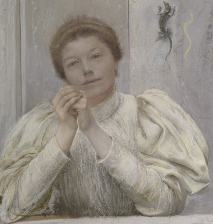 Charlotte Frances Payne-Townshend, later Mrs George Bernard Shaw. Painting by Giulio Aristide Sartorio, 1895