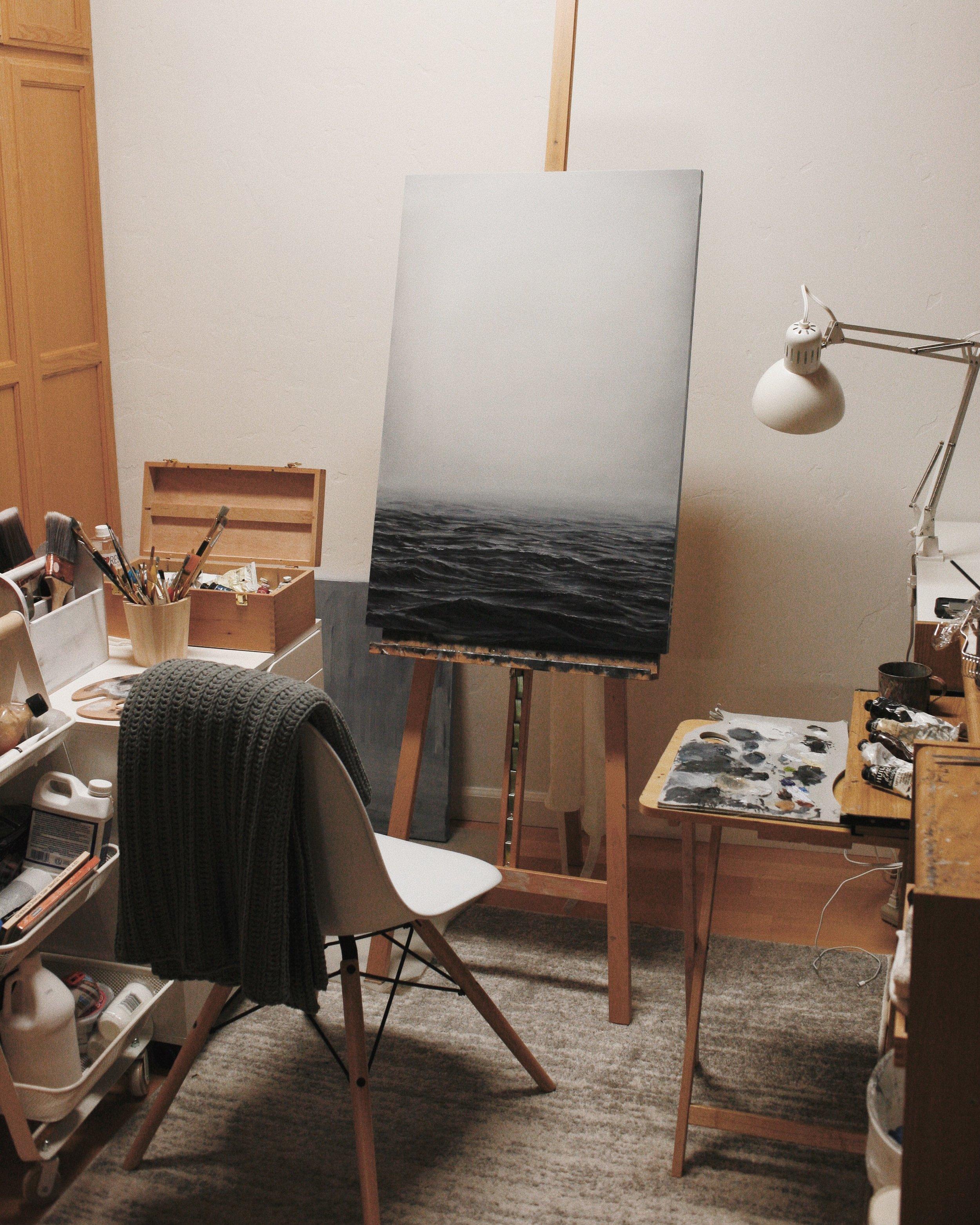solitude - oil on wood panel - Post Ranch Inn Mercantile - Beau Bernier Frank